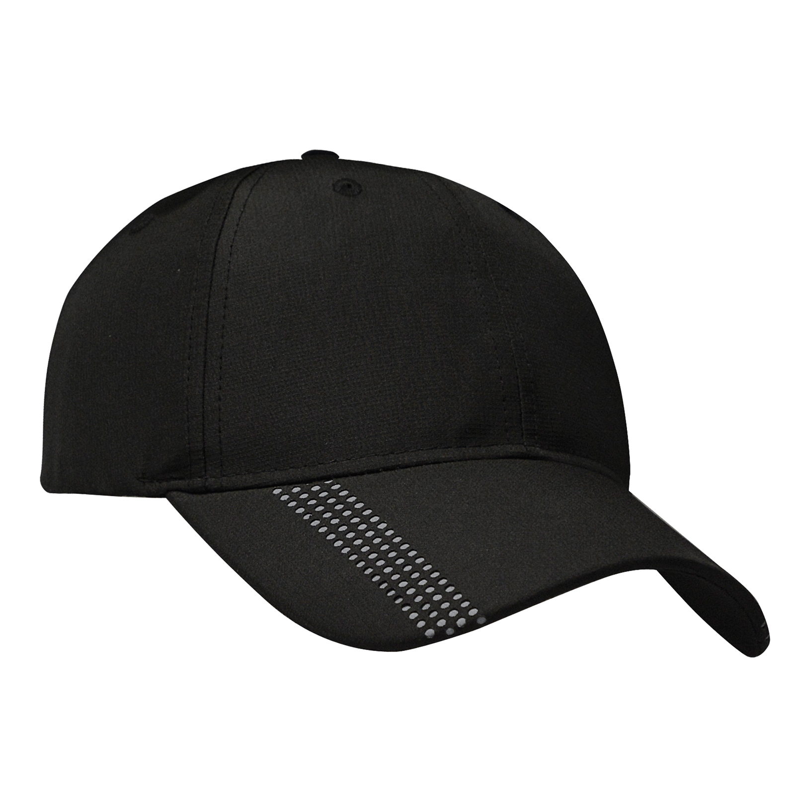 2c29e6acbdd5d2 Ferst-dry™ Moisture Wicking Pearl Nylon Cap with Laser Perforations on Peak