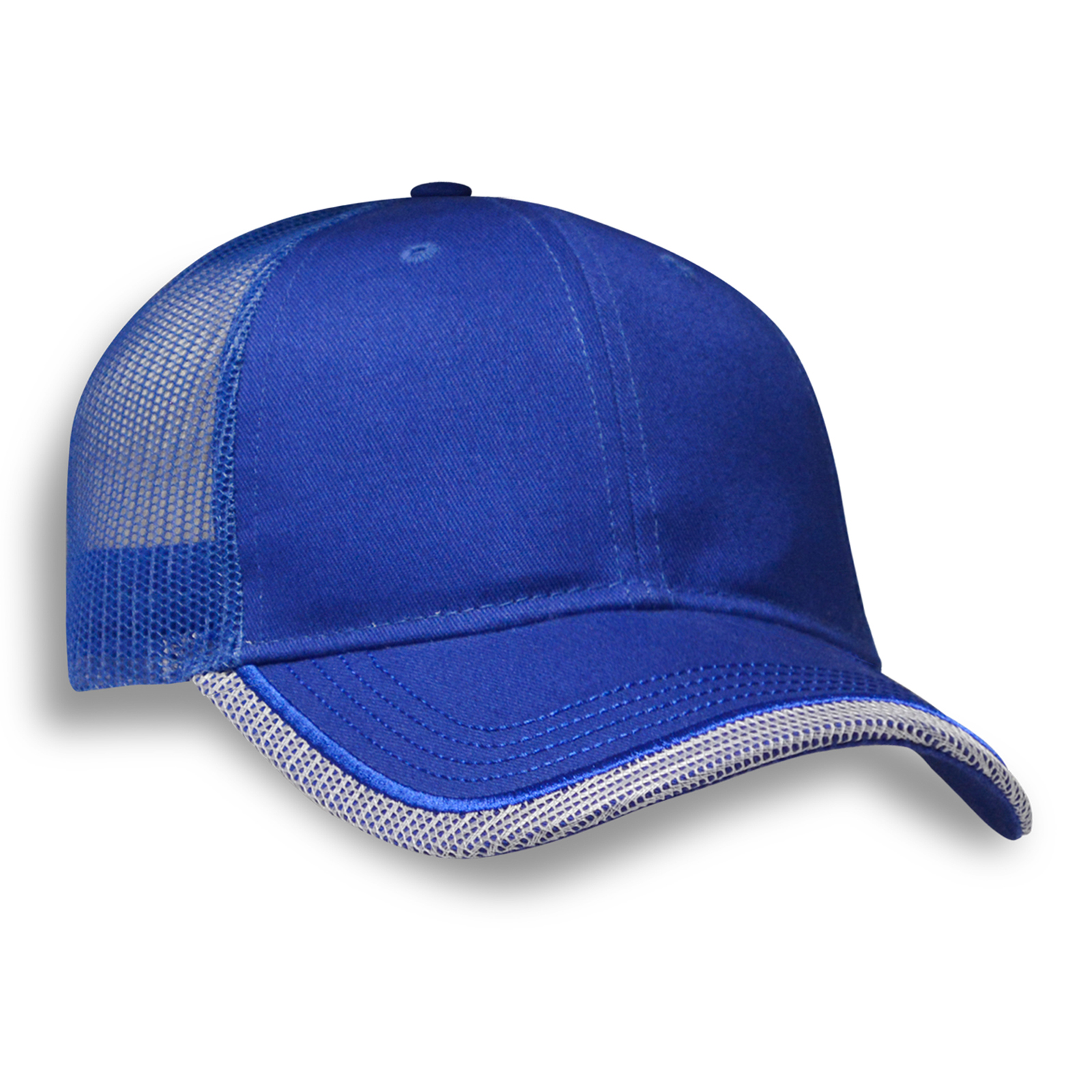 b6d751dc1b6 Structured Pct Cap with Mesh Binding and Embroidery Line on Peak