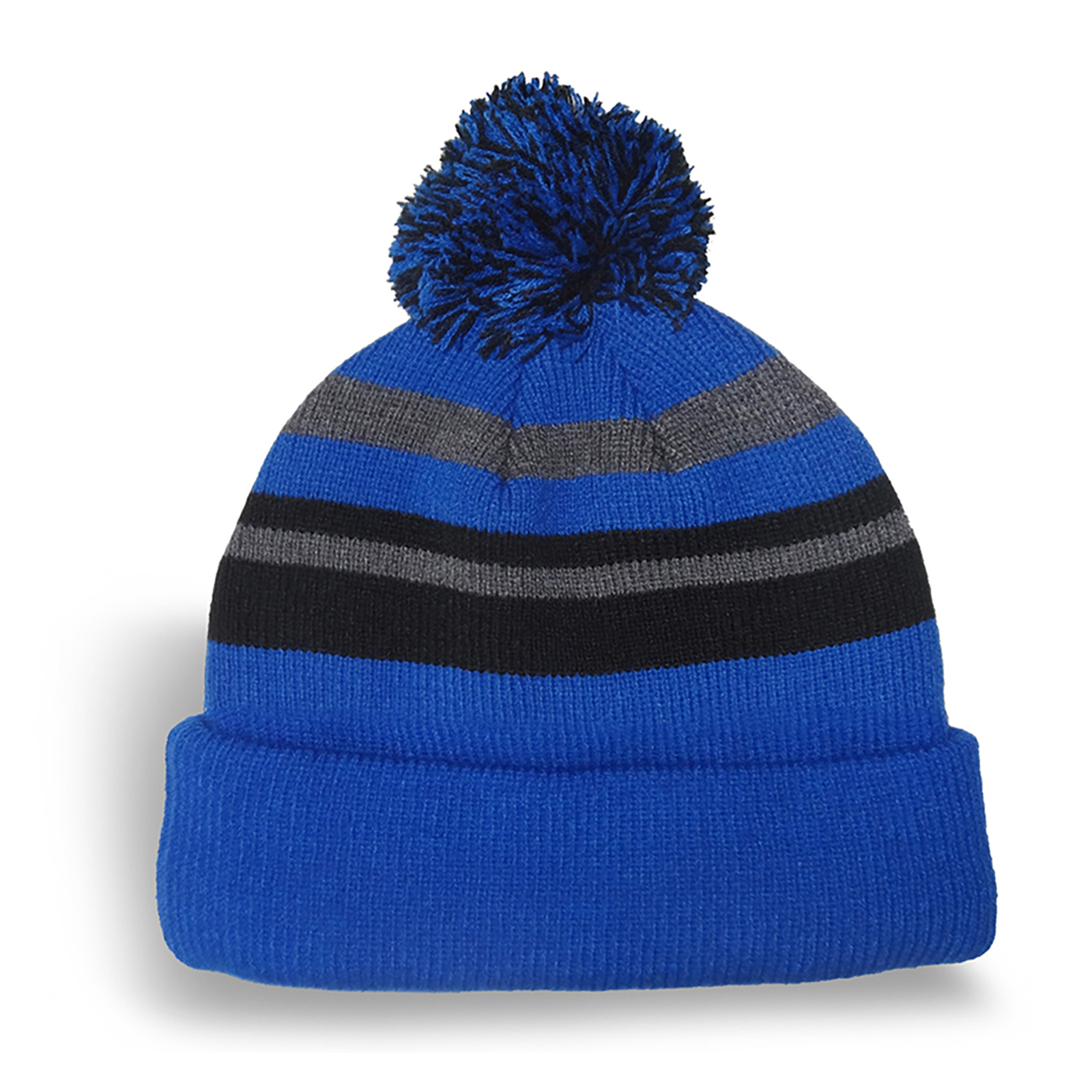 9010d592ac0 Fine Knit Striped Tuque With Microfleece Lining